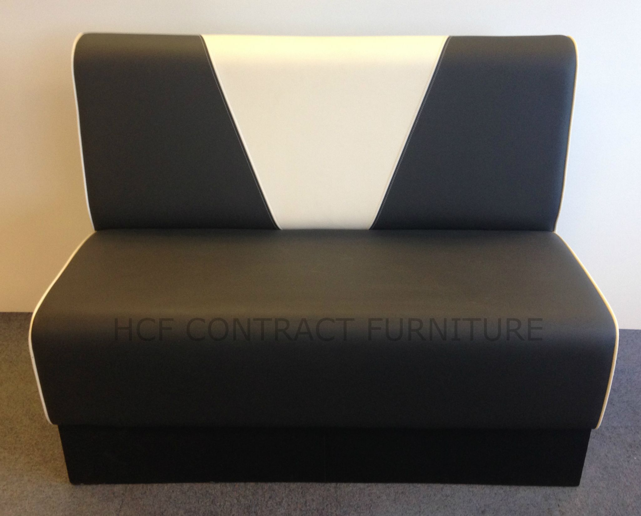 2 Seater Retro V Back Booth Seat 1200mm Upholstered In